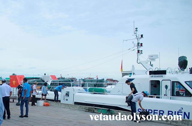 Địa điểm tàu siêu tốc Lý Sơn neo đậu