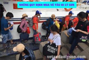 Những quy định khi mua vé tàu đi Lý Sơn