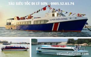 Tàu siêu tốc đi Lý Sơn