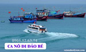 Vé tàu đi Đảo Bé Lý Sơn