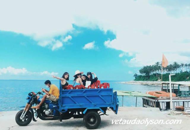 Thuê xe tuk tuk tại Lý Sơn