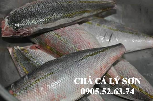 Cá đỏ củ nguyên liệu chính làm nên đặc sản chả cá Lý Sơn nổi tiếng