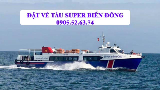 Đặt vé tàu SUPER BIỂN ĐÔNG đi Lý Sơn