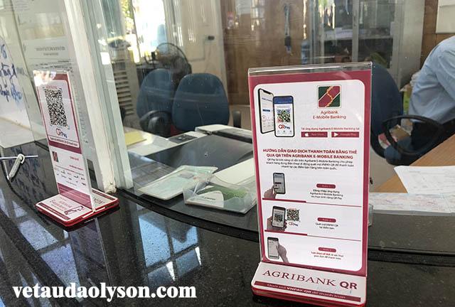 Thanh toán vé tàu Lý Sơn bằng mã QR ngân hàng Aribank