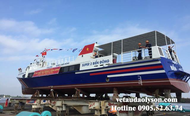 Tàu Super Biển Đông 2 lúc hạ thủy