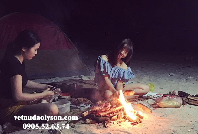 Cắm trại ở Hang Câu