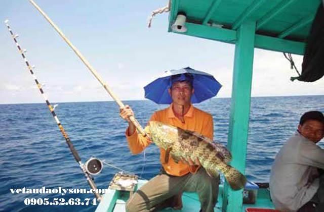 Câu cá tại Lý Sơn