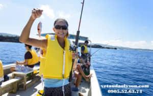 Dịch vụ câu cá tại Lý Sơn