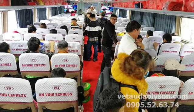 Ghế ngồi tàu An Vĩnh Express