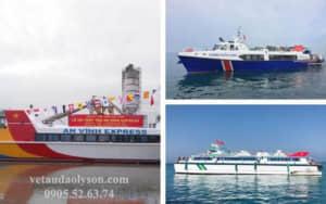 So sánh các hãng tàu đi Lý Sơn