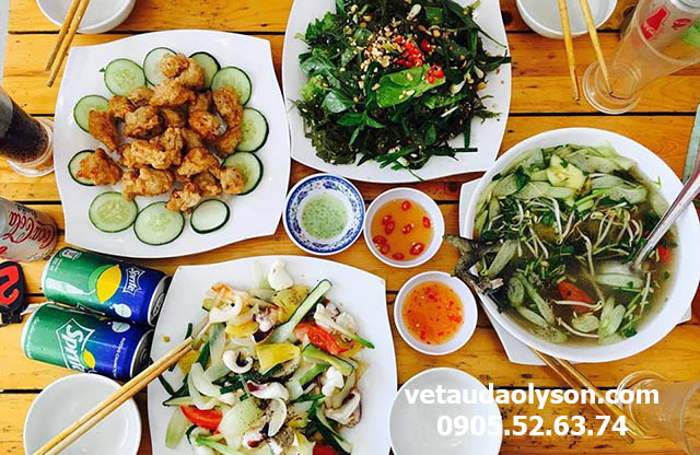 Chi phí ăn trưa tại Lý Sơn