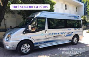 Thuê xe 16 chỗ tại Lý Sơn