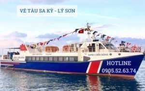 Vé tàu Sa Kỳ - Lý Sơn